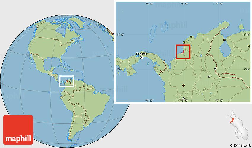 Savanna Style Location Map of Tolu