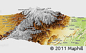 Physical Panoramic Map of Ibague