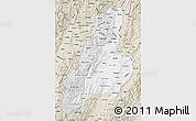 Classic Style Map of Tolima