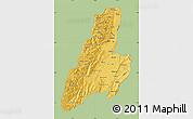 Savanna Style Map of Tolima, single color outside