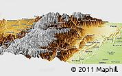 Physical Panoramic Map of Rovira