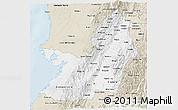 Classic Style 3D Map of Valle del Cauca
