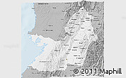 Gray 3D Map of Valle del Cauca