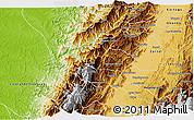Physical 3D Map of Bolivar