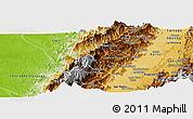 Physical Panoramic Map of Bolivar