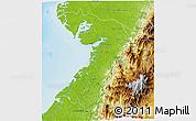 Physical 3D Map of Buenaventura