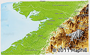 Physical Panoramic Map of Buenaventura