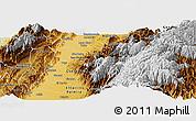 Physical Panoramic Map of Buga