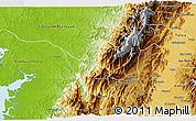 Physical 3D Map of Calima  (Darien)