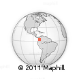 Outline Map of Calima  (Darien)