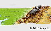 Physical Panoramic Map of Calima  (Darien)