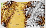 Physical 3D Map of El Cerrito