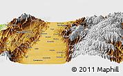 Physical Panoramic Map of El Cerrito