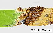 Physical Panoramic Map of El Dovio