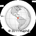 Outline Map of La Union