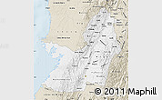 Classic Style Map of Valle del Cauca