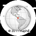 Outline Map of Obando