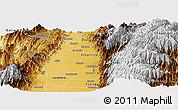 Physical Panoramic Map of Palmira