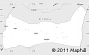 Silver Style Simple Map of Palmira