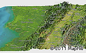 Satellite Panoramic Map of Valle del Cauca