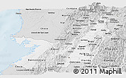 Silver Style Panoramic Map of Valle del Cauca