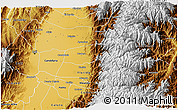 Physical 3D Map of Pradera