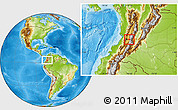 Physical Location Map of Pradera