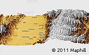 Physical Panoramic Map of Pradera