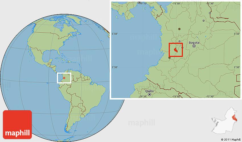 Savanna Style Location Map of Sevilla