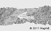 Gray Panoramic Map of Sevilla