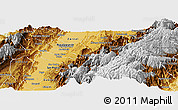 Physical Panoramic Map of Tulua