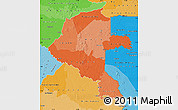 Political Shades Map of Vaupes