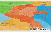 Political Shades Panoramic Map of Vaupes