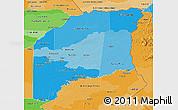 Political Shades 3D Map of Vichada