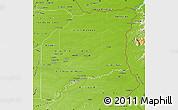 Physical Map of Vichada