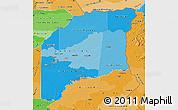Political Shades Map of Vichada