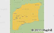 Savanna Style Map of Vichada, single color outside