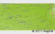Physical Panoramic Map of Vichada
