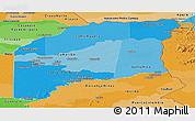 Political Shades Panoramic Map of Vichada