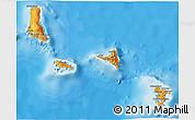 Political Shades 3D Map of Comoros