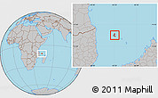Gray Location Map of Grand Comore