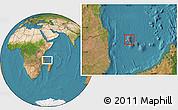 Satellite Location Map of Grand Comore
