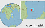 Savanna Style Location Map of Grand Comore