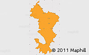 Political Simple Map of Ile de Mayotte (Fr.), cropped outside