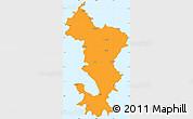Political Simple Map of Ile de Mayotte (Fr.), single color outside