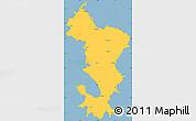 Savanna Style Simple Map of Ile de Mayotte (Fr.)