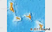 Political Shades Map of Comoros