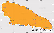 Political Simple Map of Mwali, cropped outside
