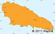 Political Simple Map of Mwali, single color outside