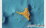 Political Map of Nzwani, satellite outside